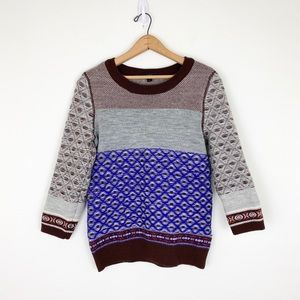 J. Crew Inside Out Fair Isle Merino Wool Sweater